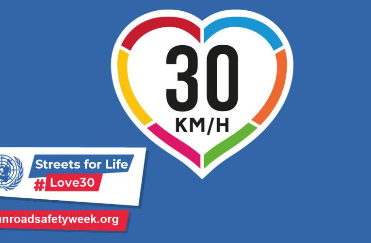 #PacificarLasCalles: La defensa de las calles a 30 km/h para la salud, el medio ambiente y la equidad durante la Semana Mundial de las Naciones Unidas para la Seguridad Vial y más allá